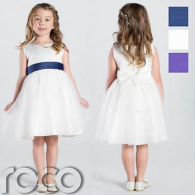 Ivory Flower Girl Dress, Girls Bridesmaid Wedding Party Dresses,Communion Dress