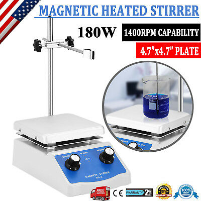 Dual Control Sh-2 Magnetic Stirrer Hot Plate Digital Display 180W Heating Plate