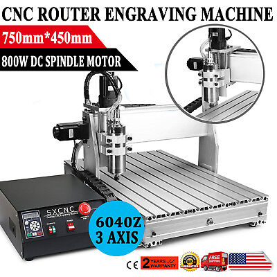 Usb Cnc Router Engraving Machine 3 Axis 6040Z Cutter Crafts Carving Ball-Screw