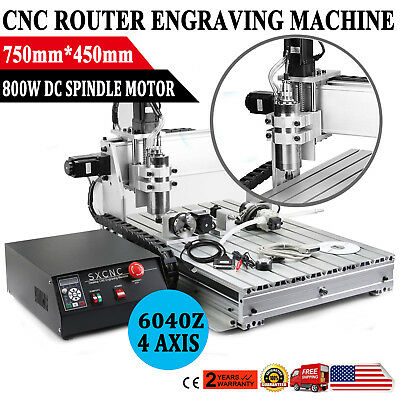 Usb Cnc Router Engraving Machine 4 Axis 6040Z Cutter Crafts Carving Ball-Screw