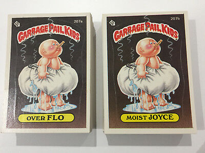 1986 USA Garbage Pail Kids 6th Series COMPLETE Set of 88 Cards