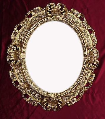 Wall Mirror in Gold Oval 45x38 cm Baroque Antique Repro Vintage 345 12