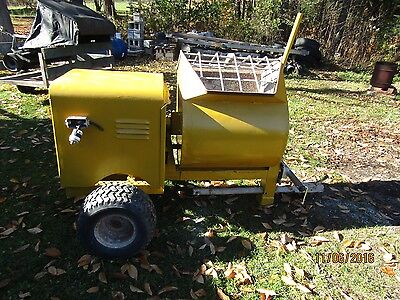Mortor Mixer-5.5 Cubic Foot Muller Mixer-Great Shape--3 Hp Marathon Elect. Motor