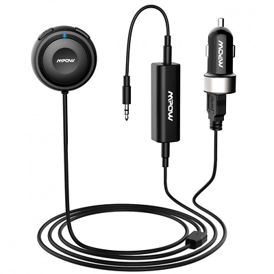 Mpow Bluetooth Receiver, Hands-Free Car Kits / Bluetooth Audio Adapter with Dual