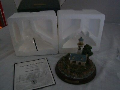 """Thomas Kinkade """"A Light in the Storm"""" Lighthouse--Seaside Memories--With Box"""