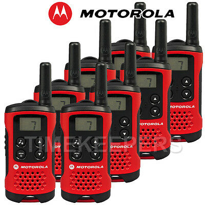 4Km Motorola TLKR T40 Walkie Talkie 2 Two Way PMR 446 Compact Radio Eight Set