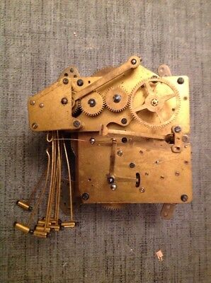 Antique Haller Clock Movement Westminster Nine Chime For Repair Or Spare Parts