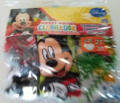 Toddler Boys Disney MIckey Mouse Clubhouse 3 pack 100% Cotton Briefs Size 2T-3T