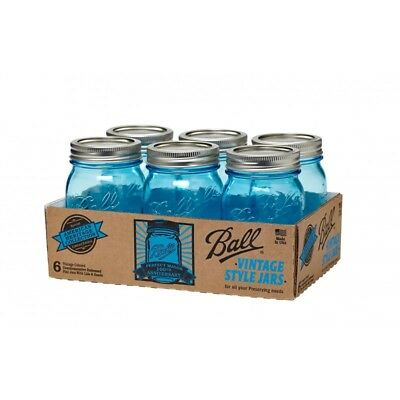 NEW Ball American Heritage Collection Blue Pint Jars