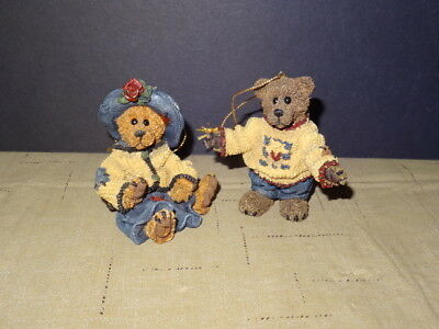 Two Boyds Bear Resin Ornaments Marked TBC 1996 Le '96