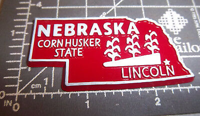 Nebraska state shaped rubber fridge style magnet, great collectors item, Lincoln