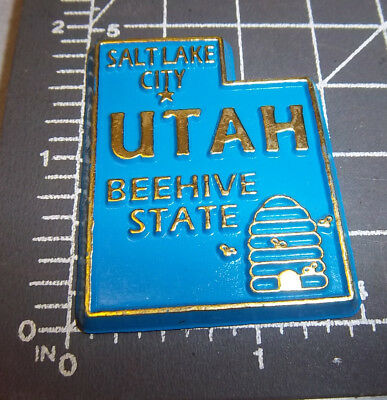 UTAH state shaped rubber fridge style magnet, nice collectors item, beehive st