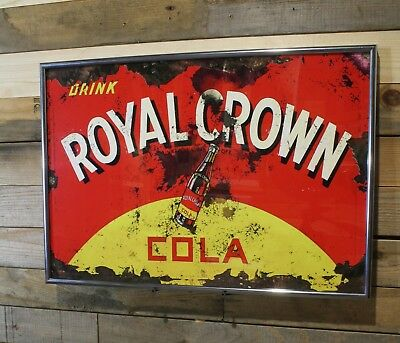 Restomod Old Cola Sign RC Royal Crown Framed Fine-Art Print 13x19 Ready to Hang!