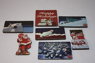 3D Wooden Magnets Sets Coca Cola Christmas, Happy Holidays, Winter Polar Bears