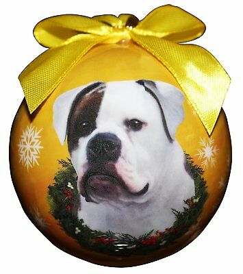 American Bulldog Christmas Ball Ornament Dog Holiday Xmas Pet Lovers Gift