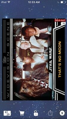 Topps Star Wars Digital Card Trader That's No Moon Widevision Insert