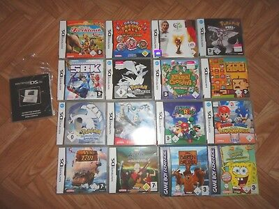 16 Leerhüllen inklusive Spielanleitung Nintendo DS / Gameboy Advance - Pokemon