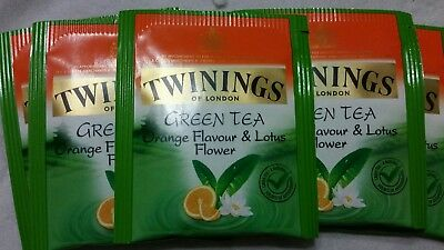 5 Sachets Twinings Orange & Lotus Flower Green Tea - NOT AVAILABLE IN STORES!