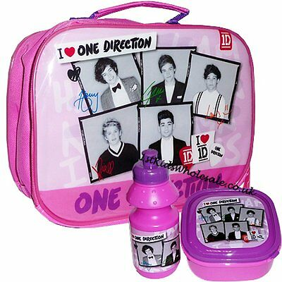One direction 3pcs lunch bag sandwich box and bottle