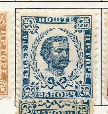Montenegro 1874-96 Early Issue Fine Mint Hinged 25n. 182236
