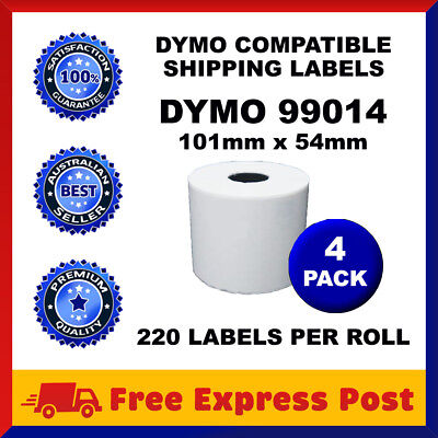 4 Rolls SD99014 Compatible Dymo Label 99014 Shipping Address Labels 54mm x 101mm