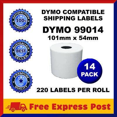 14 Rolls SD99014 Compatible Dymo Label 99014 Shipping White Labels 54mm x 101mm
