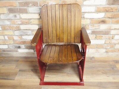 Original Indian Cinema Seats, single Chair Up cycled Cinema seat painted