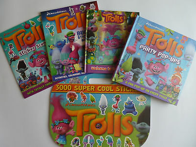 Trolls Collection! Sticker, Activity, Popup & Story Books Boys & Girls Ages 3-9