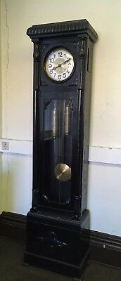 IMPRESSIVE GERMAN ANTIQUE LONGCASE CLOCK WITH CHIMES c1930 good working order