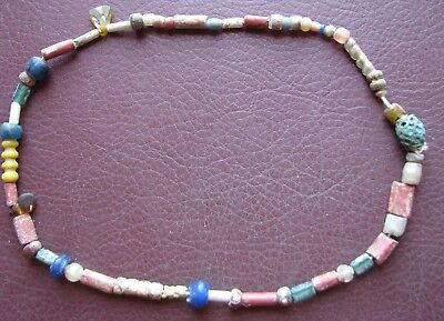 Authentic Ancient Lake Ladoga VIKING Artifact > Beaded Necklace  RJ 71