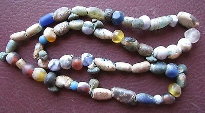 Authentic Ancient Lake Ladoga VIKING Artifact > Beaded Necklace  RJ 74