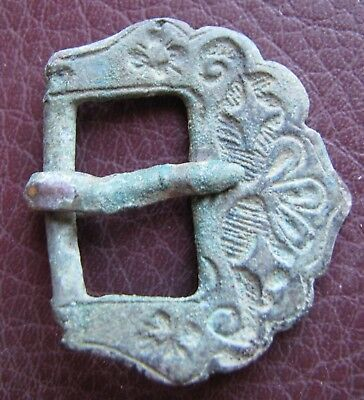 Authentic Ancient Lake Ladoga VIKING Artifact > Bronze Belt Buckle  RJ 77