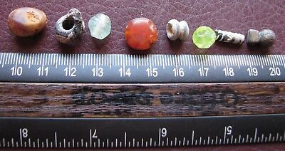 Authentic Ancient Lake Ladoga VIKING Artifact > Lot of 8 Necklace Beads  RJ 85