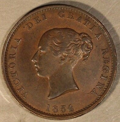 1854 New Brunswick Half Penny Attractive              ** FREE U.S. SHIPPING **
