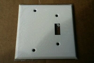 Lot of 10 2 Gang Toggle/Blank Wall Plate Cover Stainless Steel White Paint 86522