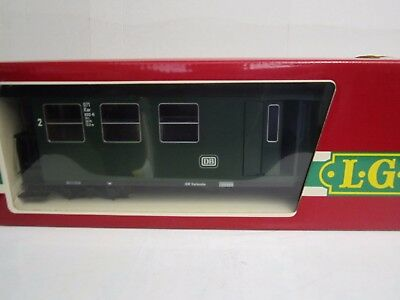 LGB G #3071 DB Second Class Passenger Coach w/Baggage Compartment (Green)