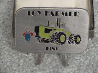 1981 Toy Farmer Steiger Tractor Belt Buckle New