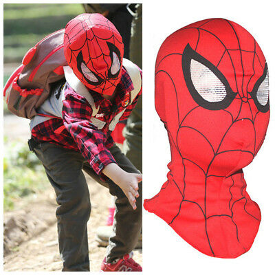 Super Heroes Spiderman Red Mask Adult Kids Cosplay Fancy Dress Costume Toy Hot