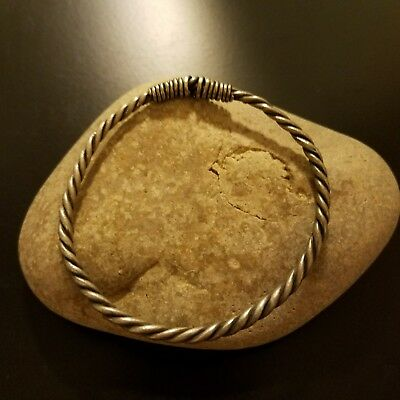 Rare Ancient Viking Silver Wire Twisted Bracelet 1000-1100AD