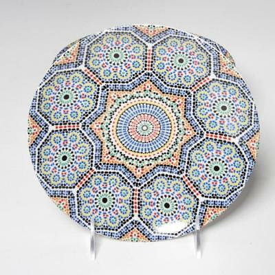 Set Of 8 Mosaic Pattern Salad/dessert Plates By Cocema Fes Morocco