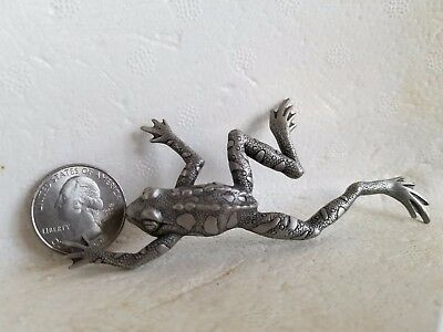 Fun Frog Pin Lead Free Pewter From the Artist Rare One of a Kind