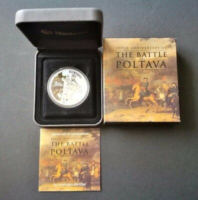 2009 $1 Silver Proof Coin 300Th Anniversary Of The Battle Of Poltava