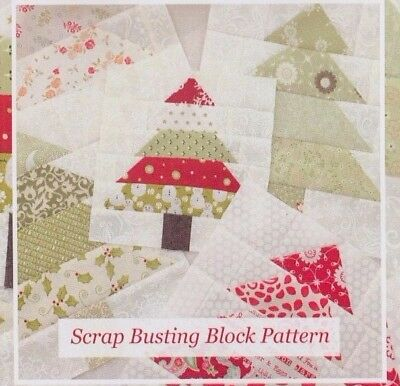 Tree Farm - pieced block PATTERN for several projects - The Pattern Basket