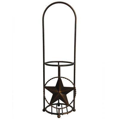 Retro Wine Rack Bottle Holder Rustic Metal Home Decorations Texas Star Decor