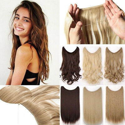 Headband Secret Halo Hair Extensions Brown Black Grey Ombre Hairpiece AU Store