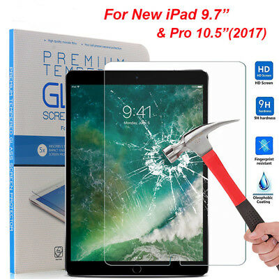 """Tempered Glass Screen Protector For Apple New iPad 9.7 (2017) iPad Pro 10.5"""""""