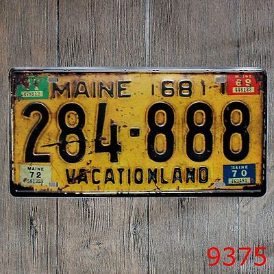 Metal Tin Sign maine vacationland Decor Bar Pub Home Vintage Retro Poster Cafe