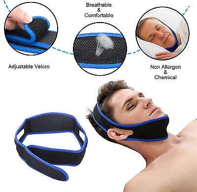 ANTI SNORE STRAP Jaw Device to Stop Snoring Better Sleep Solution Chin Support