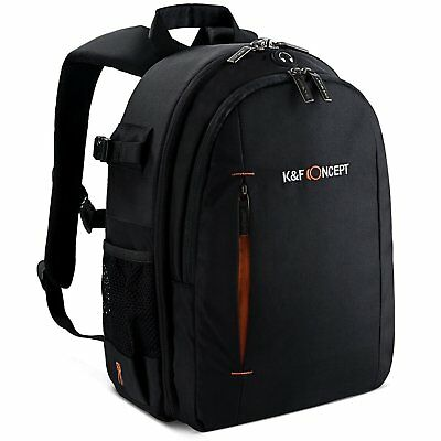 K&F Concept Camera Backpack Bag Case for Canon Nikon Sony DSLR Free Rain Cover
