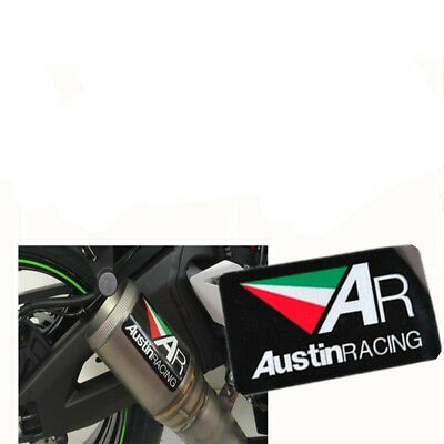 3D AR Motorcycle Exhaust Pipe Heat Racing Aluminium Decal Sticker Emblem Logo